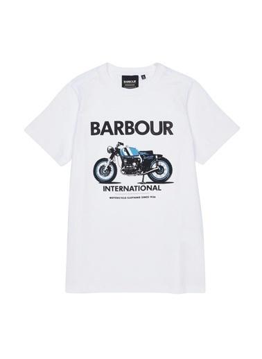 Barbour Erkek Çocuk Rider T-Shirt Wh11 White Beyaz